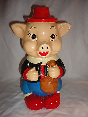 Vintage Hai Yuan Trading Corp plaster Hand painted pig Piggy bank