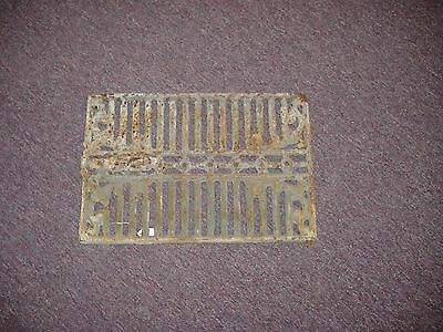 Wrought Iron Art Nouveau Window Grate Wall Art Vintage Antique
