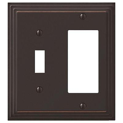 Amerelle Steps 1 Toggle 1 Decora Aged Bronze Decorative Wall Plate