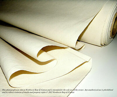"Cotton Duck Canvas, 10oz., Natural Color, Untreated, 60"" Wide, Sold by the Yard"