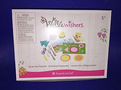 Nib American Girl Wellie Wishers Tea For Two Party Set I Ship Everyday