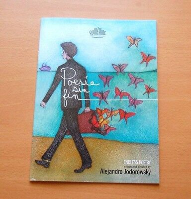 Alejandro Jodorowsky ENDLESS POETRY Official Press Booklet Cannes 2016