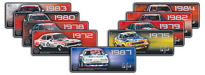 Set Of 9 Peter Brock Bathurst Winner Number Plates - Hdt Commodore V8 Supercars