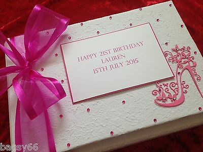 Birthday Memory Guest Book Boxed 18th 21st 30th 40th 50th 60th 70th Personalised