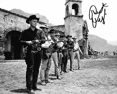 robert vaughn actor in the Magnificent 7 signed 10x8 photo
