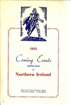 1953 Coming Events in Northern Ireland Tourist Information Centre Brochure