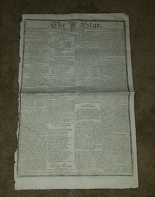 1820 The Star Newspaper, London