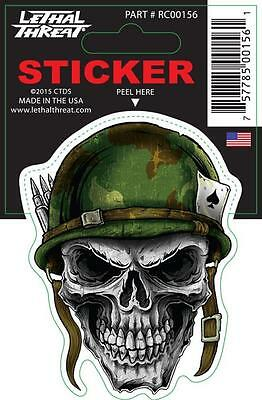 LETHAL THREAT Motorcycle Scooter Bike Decal Helmet Mini Sticker ARMY RC00156