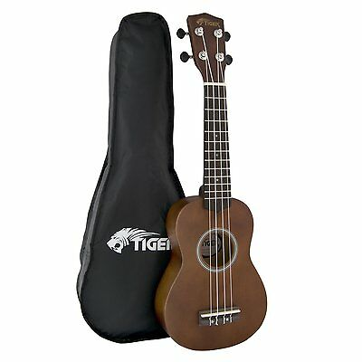 Tiger Music Natural Soprano Ukulele with Bag