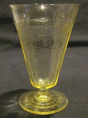 Hocking Glass Princess Topaz Footed Tumblers (4)