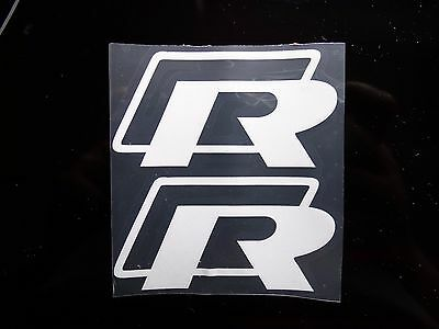 logo r metal vw emblem sticker badge noir golf touran. Black Bedroom Furniture Sets. Home Design Ideas