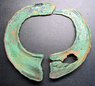 Ancient Viking Bronze Battle Bracelet (A1). BROKEN.
