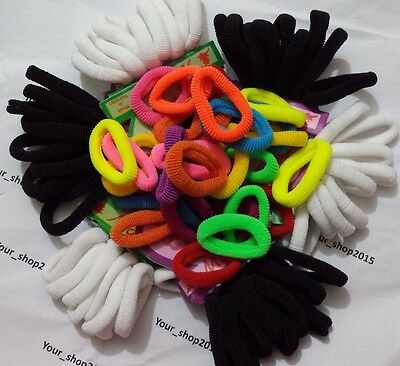 27 Pcs Kids Girl Lady Elastic Rubber Hair Bands Ponytail Holder Head Rope Ties
