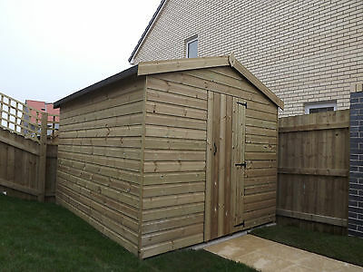 Wooden Sheds, 10x7 Pressure Treated Garden Shed,  Tanalised T&G Shiplap.