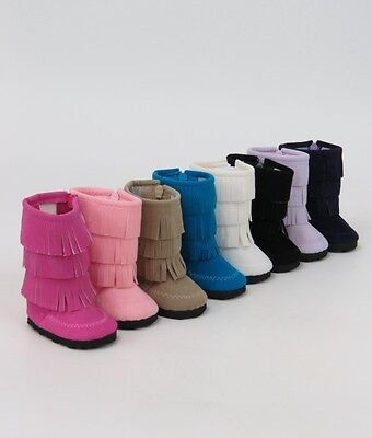 AFW Doll Fringe Boots made to fit American Girl Dolls *7 colors