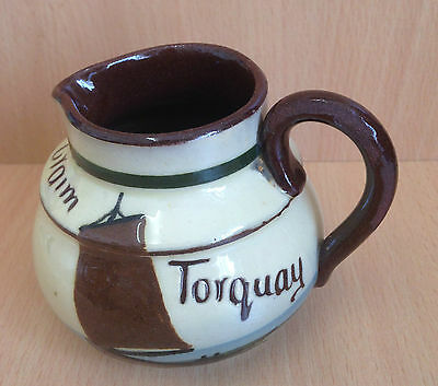 Vintage Longpark cream jug, numbered 96 - from Torquay, boat design