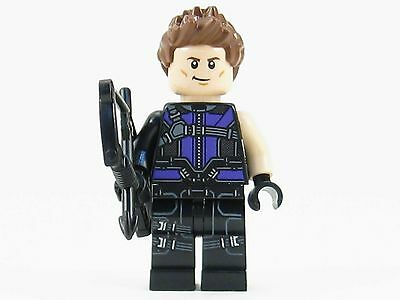 Hawkeye LEGO Minifigure with Bow - Genuine Minifig from Set 76067