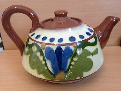 """Vintage Torquay Ware teapot - """"take a cup of tea its good"""""""