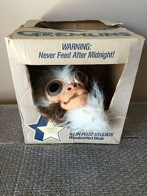 "Vintage 1984 Don Post Gremlins ""GIZMO"" Mask. 1989 Don Post/Warner Brothers -RARE"