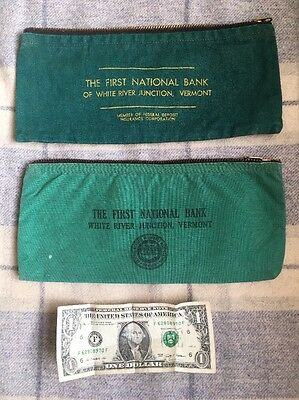 Deposit Bags (Vintage) First National Bank, White River Junction, Vermont Canvas
