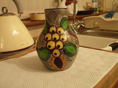 Vintage Schramberg SMF Wheelock Black Forest German GOBELIN 3 Pottery Vase