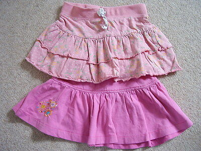 Girls cotton pink skirt , George ,Size 1.5-3 years,good condition,set of 2