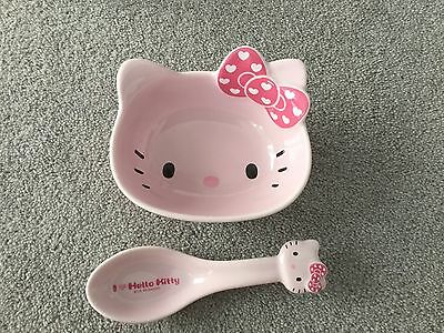 Hello KITTY Bowl And Spoon Set. NEW.