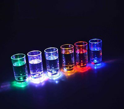 LED Flashing Shot Glass - Great for Parties Christmas and New Years UK SUPPLIER