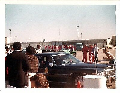 Prince Charles Leaving Airport in Cadillac on 1981 DC Visit by HRH