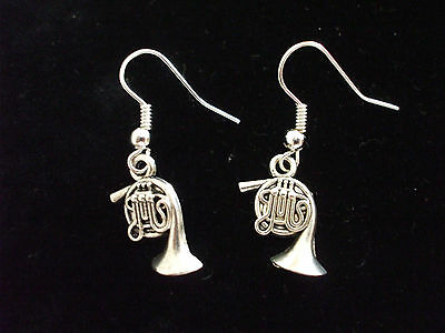 French Horn  Earrings Ideal Present for Musician Free P&P