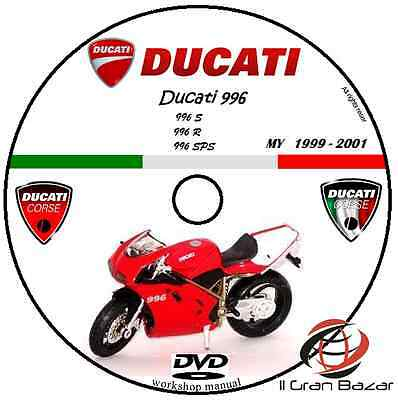 Manuale Officina  Ducati 996R 996S 996Sps My 1999 - 2001 Workshop Manual Cd Dvd