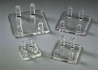 Four Peg Display Stands for minerals, fossils, meteorites, rocks, shells, coins