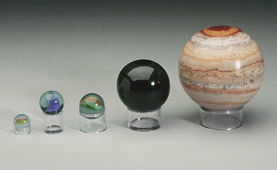 Cylinder Display Stands for spheres, marbles, balls, eggs, and heavier items