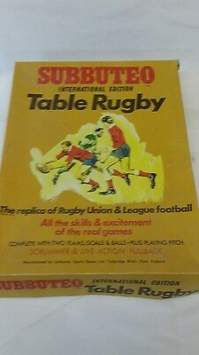 Subbuteo Table Rugby International Edition - Fair Condition