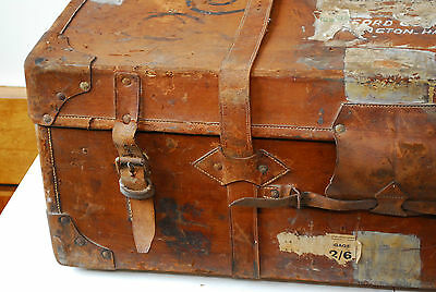 Travelling trunk shipping chest vintage military case luggage Bromhead ZULU