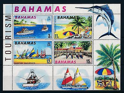 [50026] Bahamas 1969 Tourism Fishing Sail boats Beach MNH Sheet
