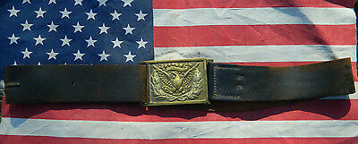 Non dug Civil War Relic US Model 1851 OFFICERS LEATHER BELT W/ PLATE AUTHENTIC