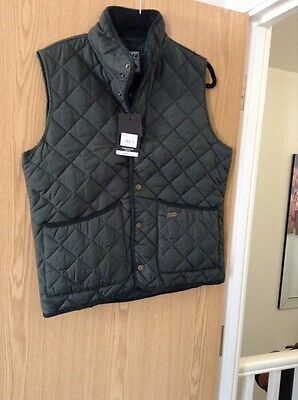 Mens Toggi Green Quilted Gilet Body Warmer Size Small