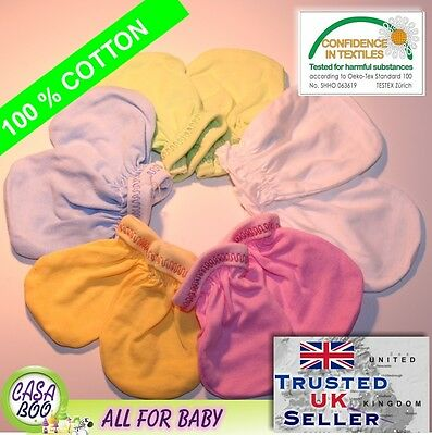 2 pairs NEWBORN Baby cotton GLOVES GIRLS BOYS 100% COTTON Handguard
