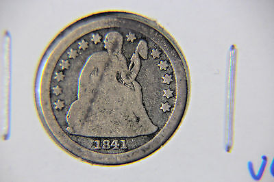 1841 10C Liberty Seated Dime - Lot # DSL 158