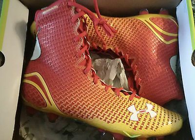 Highlight Under Armour THE FLASH Alter Ego football cleats mens size 12.5 red