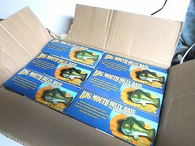 Wholesale Case Lot of 6 Big Mouth Billy Bass Singing Fish Mount Wall Plaques