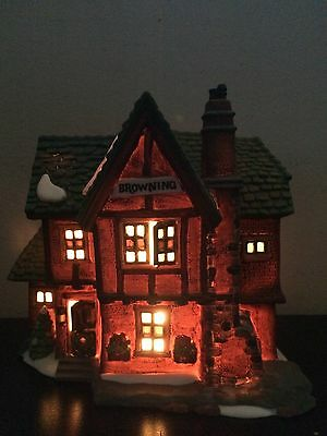 Dept 56 BROWNING COTTAGE Lighted Dickens Village 1994 1st Issue Retired Mint