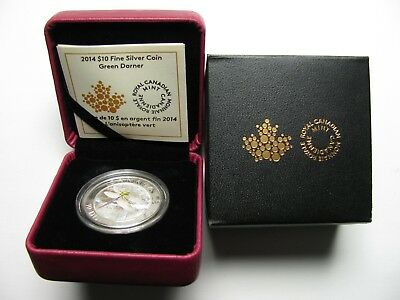 2014 Proof $10 Dragonfly #2 - Green Darner Canada .9999 silver ten dollars