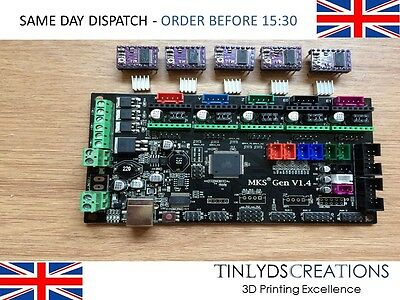 MKS GEN V1.4 New Upgrade Version 3D Printer Control Board Mega 2560 R3 + 5x DRV