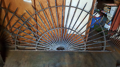 LARGE ANTIQUE   WROUGHT IRON / BRACKET. 96 inches wide 48 tall