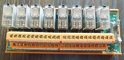Weidmuller Rsm2-8 With 8 Omron G2R-2-Sn 4 Vdc,  Made In Germany