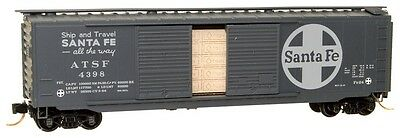 Santa Fe AT&SF 50' Standard Boxcar Double Doors Micro-Trains #03400251 N-Scale