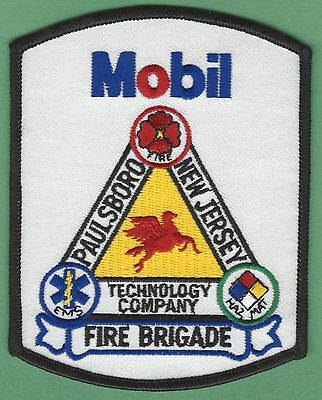 Mobil Refinery Paulsboro New Jersey Industrial Fire Rescue Patch
