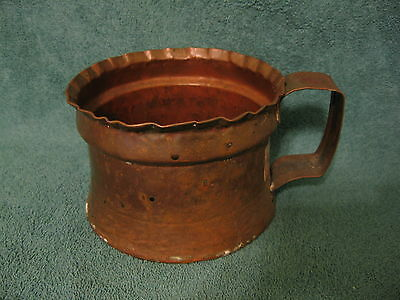 """Solid Copper Planter Pot with Handle/5"""" Diameter/Made in Turkey (S977)"""